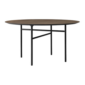 Snaregade Round Dining Table - Black/Dark Stained Oak - Large