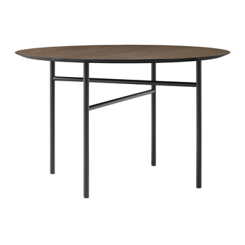 Snaregade Round Dining Table - Black/Dark Stained Oak - Small