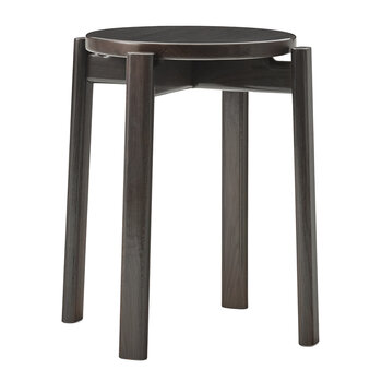 Passage Stool - Dark Lacquered Oak