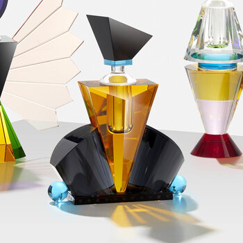 Hamilton Crystal Perfume Flacon - Yellow/Black
