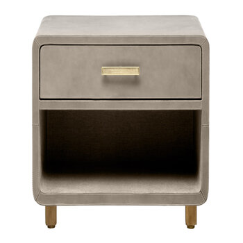 Dante Nightstand - Storm Leather