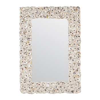 Buford Mirror - Oyster Shells/White