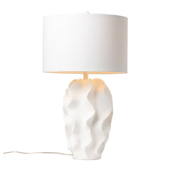 Bethany Table Lamp - White Resin