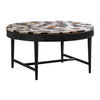 Mausam Coffee Table - Black Ash/Terazzo