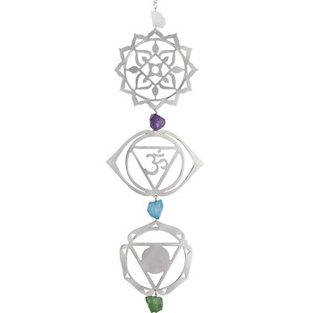 Crystal Grid Wall Hanging - Silver