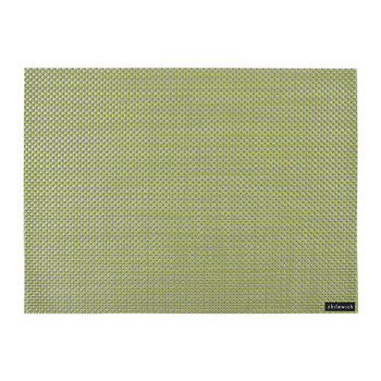 Basketweave Rectangle Placemat - Grass Green