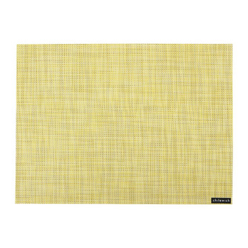 Mini Basketweave Rectangle Placemat - Lemon