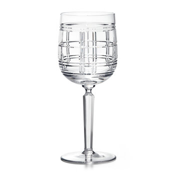 Hudson Plaid Red Wine Glass