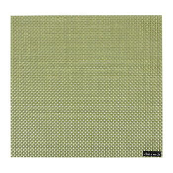 Basketweave Square Placemat - Grass Green