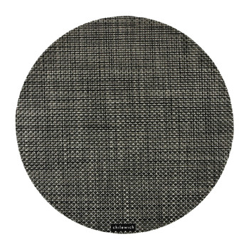 Basketweave Round Placemat - Carbon