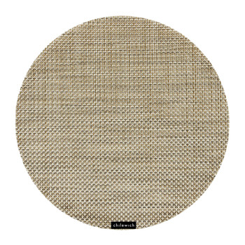 Basketweave Round Placemat - Latte