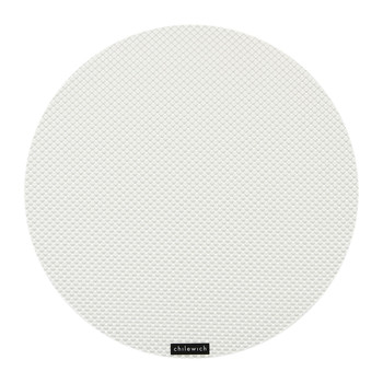 Basketweave Round Placemat - White