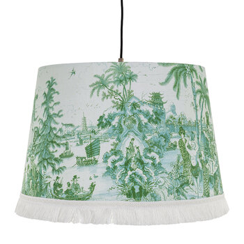 The Island Ceiling Shade - Green/White