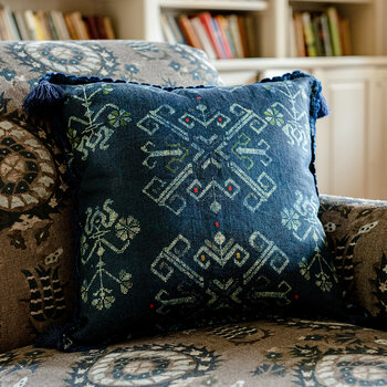 Roots Pillow - 50x50cm - Blue