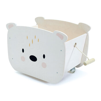 Kids Pull Along Bear Cart
