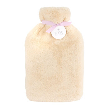 Deluxe Hot Water Bottle - Caramel Cream