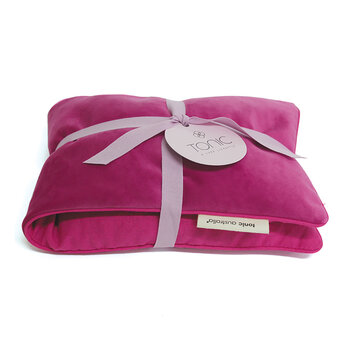 Luxe Velvet Heat Pillow & Eye Mask Set - Berry