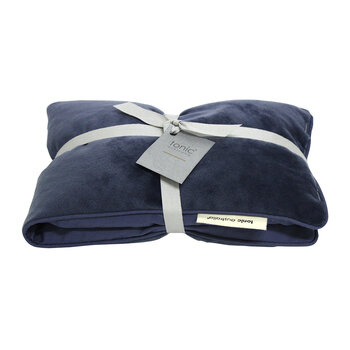 Luxe Velvet Heat Pillow & Eye Mask Set - Storm