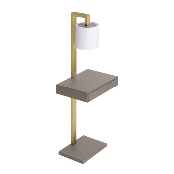 Ernesto Side Table With Lamp - Mud G21/Brass