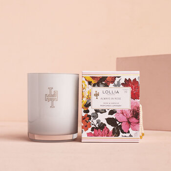 Always in Rose Luminary Scented Candle - Rose & Hibiscus