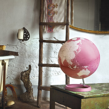 Atmosphere Illuminated Globe - 30cm - Coral