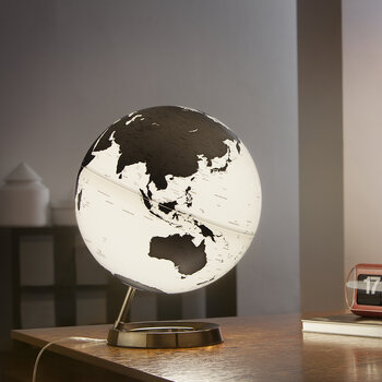 Atmosphere Illuminated Globe - 30cm - Charcoal