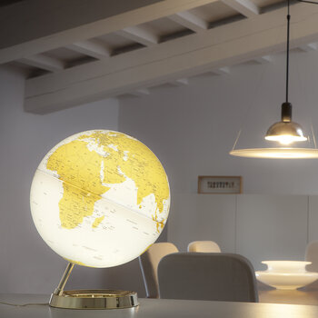 Atmosphere Illuminated Globe - 30cm - Gold