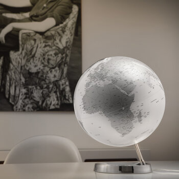 Atmosphere Illuminated Globe - 30cm - Chrome