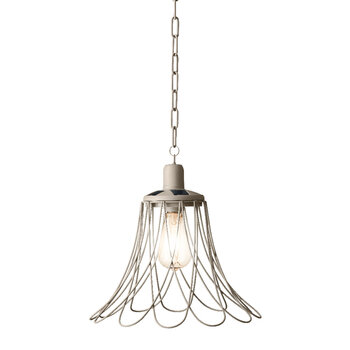 Outdoor Open Flower Ceiling Light - Taupe
