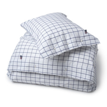 American Country Pinpoint Check Duvet Cover - Navy