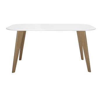 Mill Dining Table - Metal/White