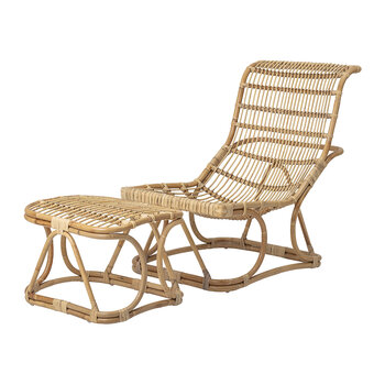 Eloise Lounge Chair & Foot Rest - Natural Rattan