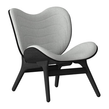 A Conversation Piece Lounge Chair - Black - Silver Grey