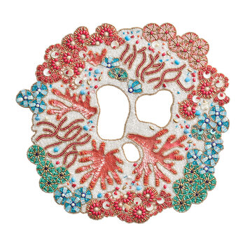 Cozumel Placemat - Turquoise/Coral/Gold