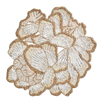 Botanica Placemat - White/Gold/Silver