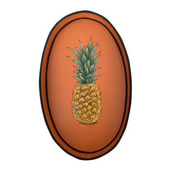 Hand-Painted Iron Tray - Pineapple
