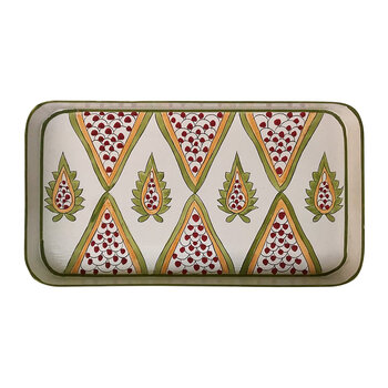 Persia Hand-Painted Iron Tray - Pink/Gold