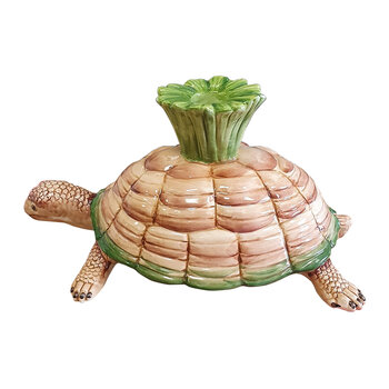 Tortoise Ornament - Pink/Green
