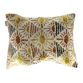 Velvet Cushion - 40x50cm - Yellow/Brown Sunshine