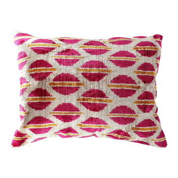 Velvet Cushion - 40x50cm - Pink/Gold