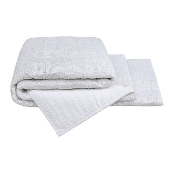 Nero Dot Quilted Bedspread - 260x235cm - White