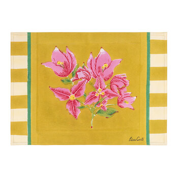Bougainvillea Stripes Placemat - Mustard - Set of 2