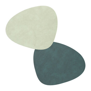 Nupo Curve Table Mat - Set of 4 - Dark/Olive Green