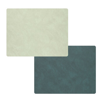 Nupo Square Table Mat - Set of 4 - Dark/Olive Green