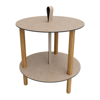 Strap Bull Coffee Table - Large - Warm Grey/Nature