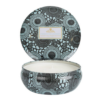 Japonica 3 Wick Candle in Tin - French Cade & Lavender