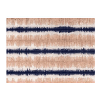 Ride Or Dye Placemat - Navy/Nude Striped