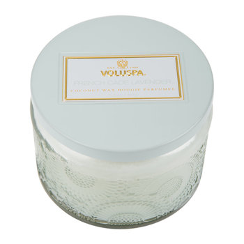 Japonica Small Glass Candle - French Cade & Lavender