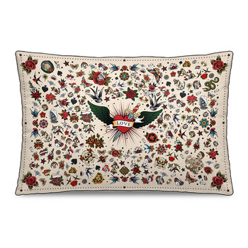 Tattoo Floral Outdoor Pillow - 40x60cm - Multi
