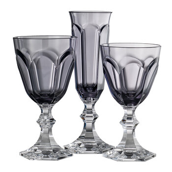 High Dolce Vita Acrylic Wine Glasses - Grey